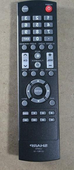 Sharp LC-RC1-14 TV Remote Control for Sharp LCD/ LED TVs  NE