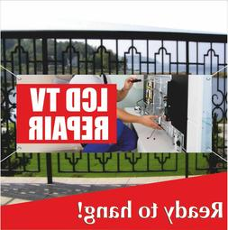 LCD TV REPAIR Advertising Vinyl Banner / Mesh Banner Sign Fl