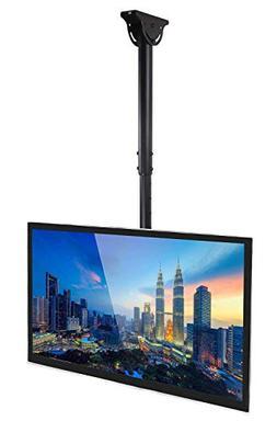 Mount-It! TV Ceiling Mount Bracket, Adjustable Height Full M