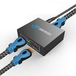 1X2 Mini HDMI Splitter 1080P 3D Support, 1-in-2-out Digital