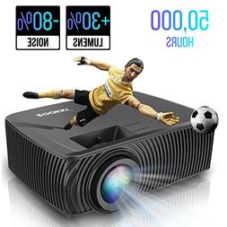 Portable Mini LED Home Theater Projectors, ZOOKKI Multimedia