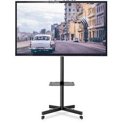 Mobile TV Stand with Locking Wheels/Tilt Mount for 27-60 Inc