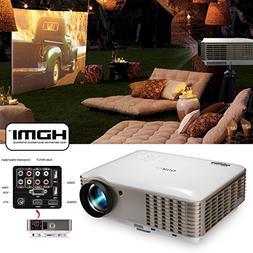EUG Dual HDMI HD 1080p 3900 Lumens LCD LED Image System Home