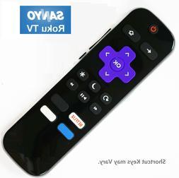 NEW IR Remote Control for SANYO ROKU Smart TV