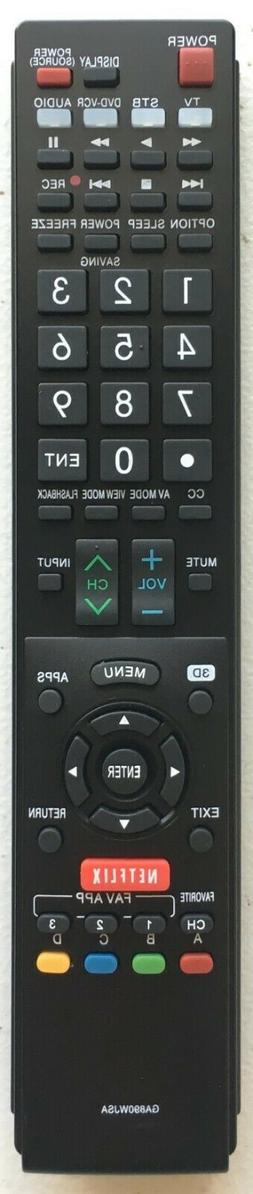 NEW USBRMT Remote GA890WJSA For SHARP AQUOS TV GB118WJSA LC7