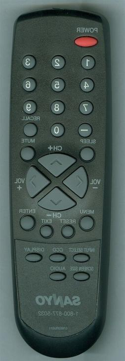 ORIGINAL【NEW】SANYO 076E0RU011 LCD/HD TV Remote - DP19241