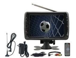 "Portable TV Rechargeable 7"" LCD Digital Television MMC FM US"