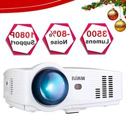 Projector, WiMiUS T4 3500 Lumens 5.8 Inch LCD Projector Supp