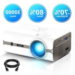 Projector,Myriann Portable Mini Multimedia Home Video LCD Pr