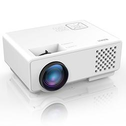 Projector, FUNAVO RD-815 LED Mini Video Projector for Multim
