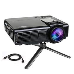 Projector by WiMiUS +20% Lumens Portable LCD Video Projector