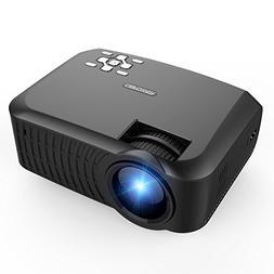 Projector, DBPOWER T22 Upgraded 2400 Lumens LCD Mini Portabl