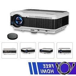 EUG 3900 Lumens Wxga LCD HDMI Video Projectors HD 1080P, 128