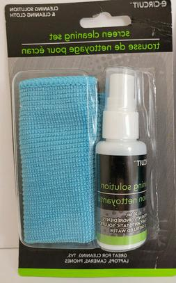 Screen Cleaner Kit Cleaning Spray Soft Fiber Cloth for TVs S