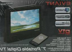 "Eviant T7 7"" Portable Digital DTV LCD TV - Black NEW Sealed"