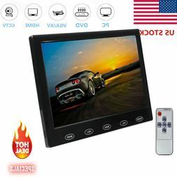 "Ultra-thin 7"" LCD Monitor AV/VGA/HDMI 1080P Input w/Speaker"