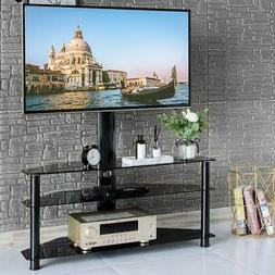 """Three Layers Shelf Floor TV Stand with Swivel Mount for 32"""""""