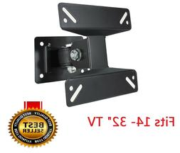 Tilt & Swivel LED LCD TV Wall Mount Bracket 14 17 19 22 24 2