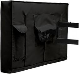 "Outdoor TV Cover 44"" - 46"" Black Weatherproof Universal Prot"