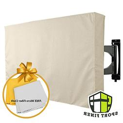 Sport Finer Outdoor TV Cover, Beige, Weatherproof - Protects