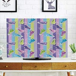 iPrint LCD TV dust Cover,Retro,Different Colored Sneakers on