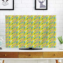 iPrint LCD TV dust Cover Customizable,Surfboard,Summertime A