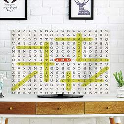 iPrint LCD TV dust Cover Customizable,Word Search Puzzle,Uni