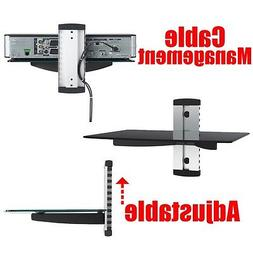TV glass one shelf shelves Audio DVD game console system HD