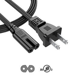 Garyway TV Power Cord 2 Prong 6Ft Cable for Samsung LG Sharp