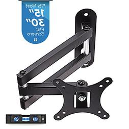 "TV Wall Mount Bracket, Full Motion Swivel and 15"" Extension"