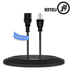 PwrON 6ft/1.8m UL Listed AC Power Cord Cable Plug for Philip