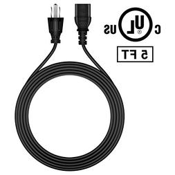 FITE ON 5ft AC IN Power Cord Cable Outlet Plug for Dynex DX