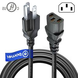 T-Power UL Listed Heavy Duty  Power Cord 3 Prong  for Univer
