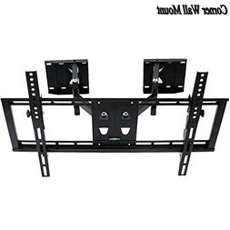"UNHO Corner TV Wall Mount, 32"" to 65"" Full Motion Swivel Til"