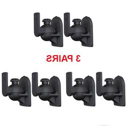 Cmple - 3 Pairs of Universal Speaker Mount for Walls - Black