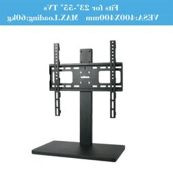 "Universal TableTop TV Stand for 32-60"" TVs Height Adjustable"