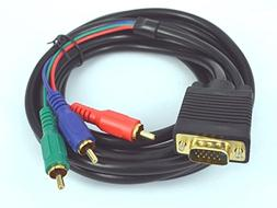 12 Ft VGA to 3 RCA Component Cable For Laptop PC LCD TV US S