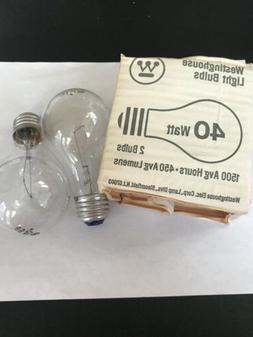Vintage Westinghouse New Old Stock 40 Watt Lightbulbs Pack O