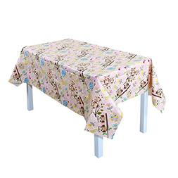 uxcell Vinyl Rectangle Table Cover Wipe Clean PVC Tablecloth