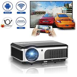 WiFi projector Portable 2600 Lumens Home Theater 1080p HD LC