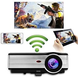 Home HD LED Wireless Projector 1280X800 Native Support 1080p