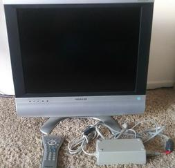 Working Vintage Sharp AQUOSLC-20S4U 20-inch LCD TV with Re