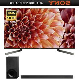 """Sony XBR75X900F 75"""" 4K HDR UHD LCD TV 3840x2160 & HTX9000F D"""